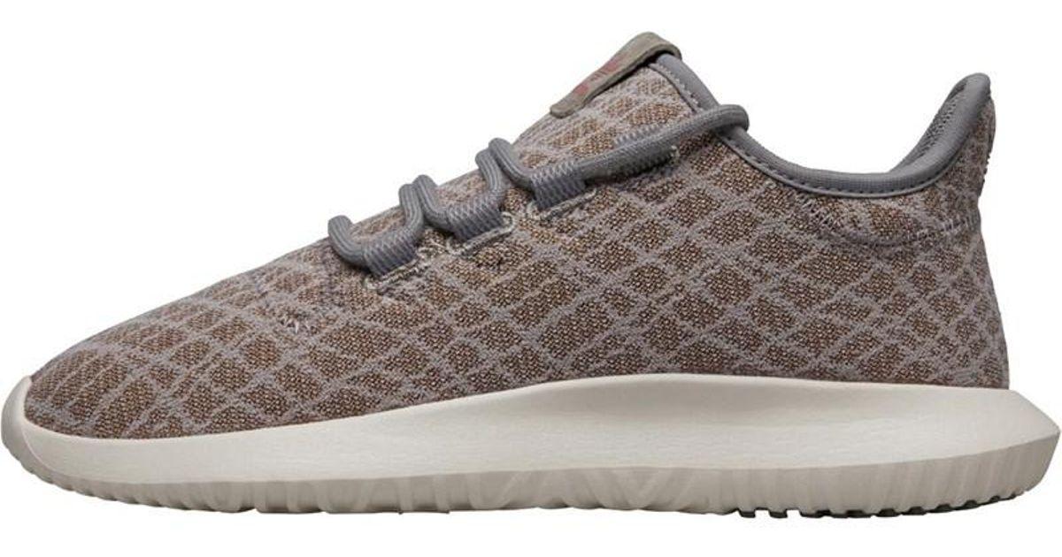 3ef9d929168e Adidas Originals Tubular Shadow Trainers Ch Solid Grey ch Solid Grey raw  Pink in Gray - Lyst