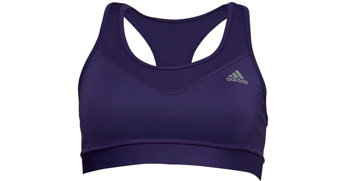 472929600eafc clearance adidas techfit climacool bra unity purple matte silver in purple  lyst c031e 5868b