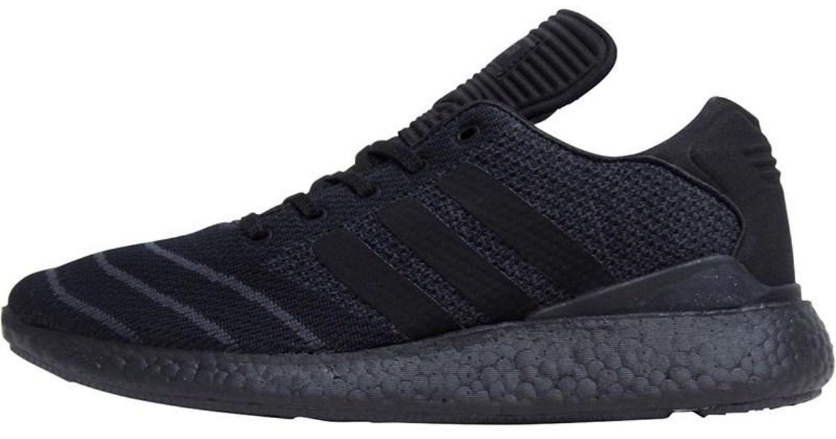 online store 1ff19 a81ce adidas Originals Busenitz Pureboost Primeknit Trainers Core Blackcore Black core Black in Black for Men - Lyst