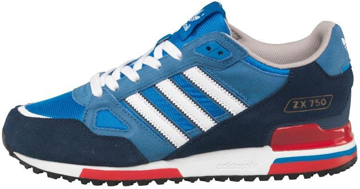 ad45bb0068976c adidas Originals Zx 750 Trainers Bluebird white dark Slate in Blue for Men  - Lyst