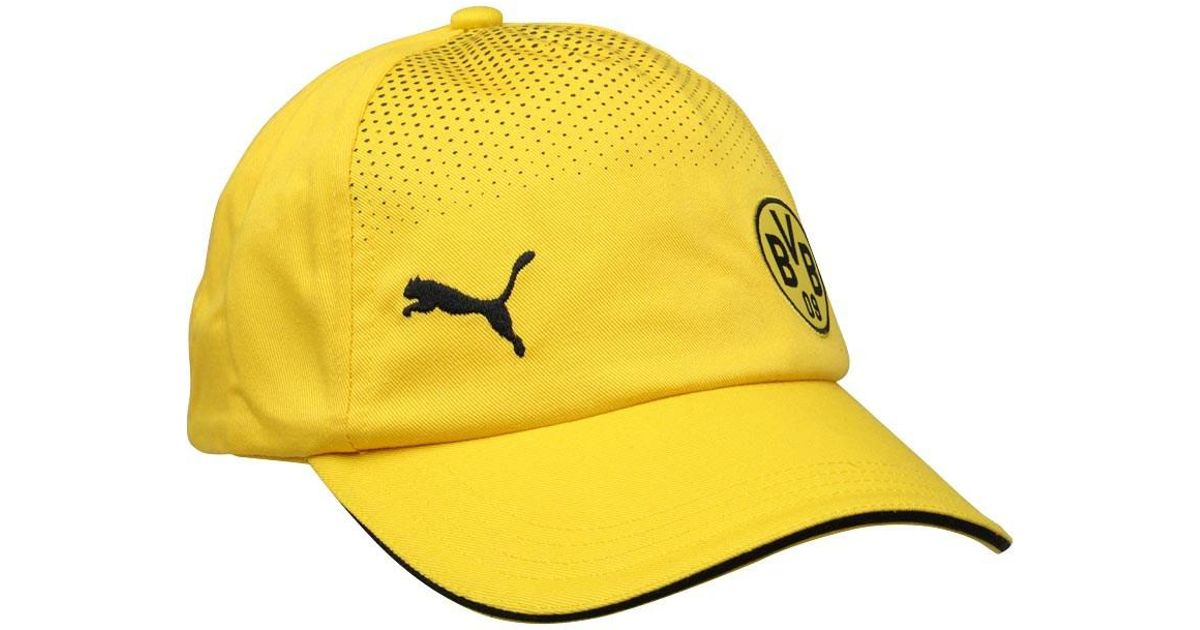5856e3110c9 PUMA Bvb Borussia Dortmund Supporters Cap Cyber Yellow black in Yellow for  Men - Lyst