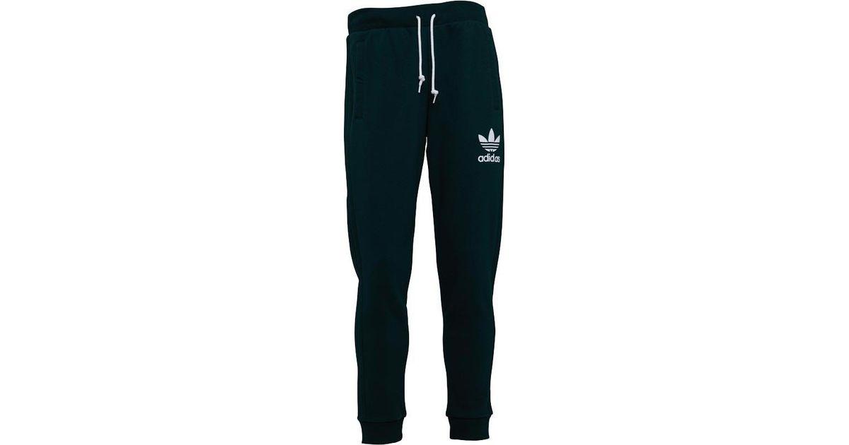 67a34ca18365 adidas Originals 3 Stripe Sweat Pants Green Night in Green for Men - Lyst