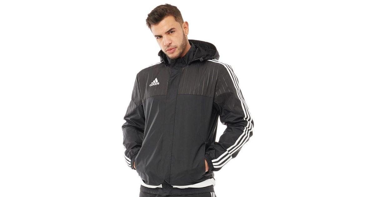 b6afa5ff7 adidas Tiro 15 Rain Jacket Black/white/black in Black for Men - Lyst
