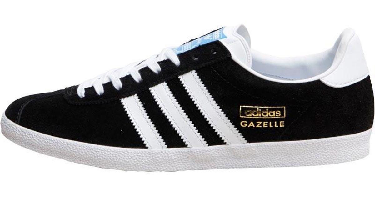 adidas Originals Gazelle Og Trainers Black white met Gold in Black for Men  - Lyst 32976db99