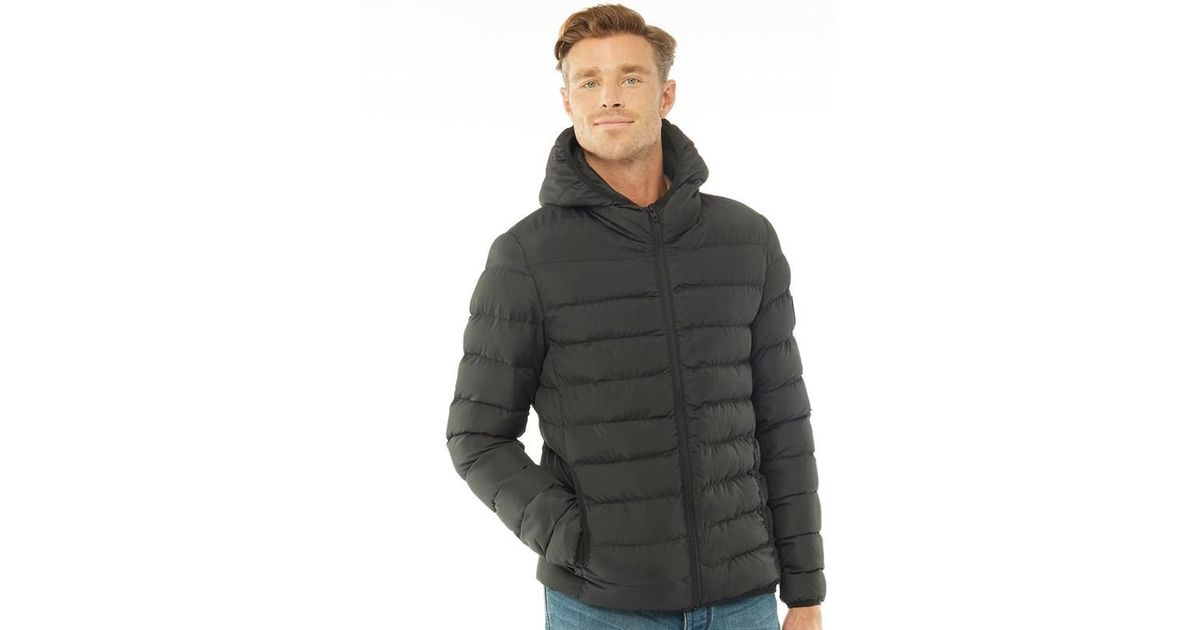 4ee00360f5d French Connection Row 2 Hooded Jacket Black in Black for Men - Save 13% -  Lyst