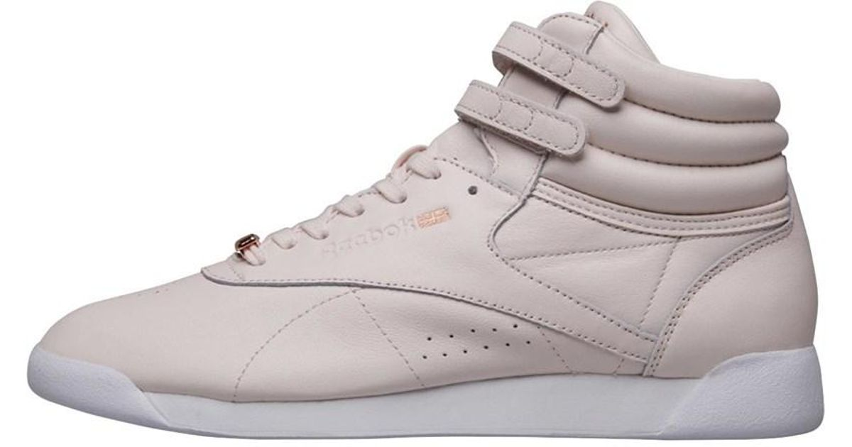 c05fe7d1387 Reebok Freestyle Hi Muted Trainers Pale Pink white cool Shadow - Lyst