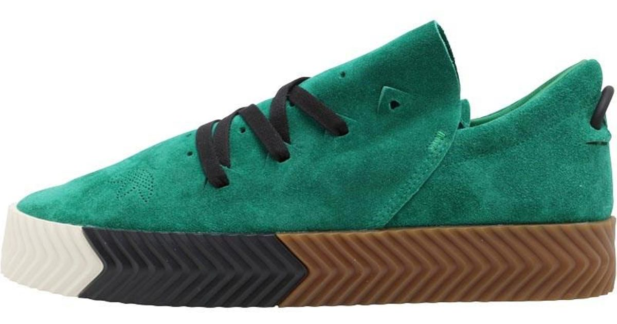 482b2b3b307 adidas Originals X Alexander Wang Aw Skate Trainers Green white gum in  Green for Men - Lyst