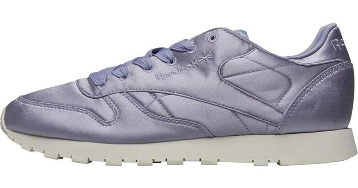 ee6240a7cc0a5 Reebok Leather Satin Trainers Purple Fog classic White in Purple - Lyst