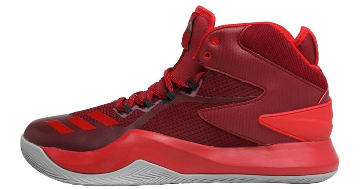 0991a8cb3237 adidas Derrick Rose Dominate Iv Basketball Shoes Core Burgundy scarlet solid  Grey in Red for Men - Lyst