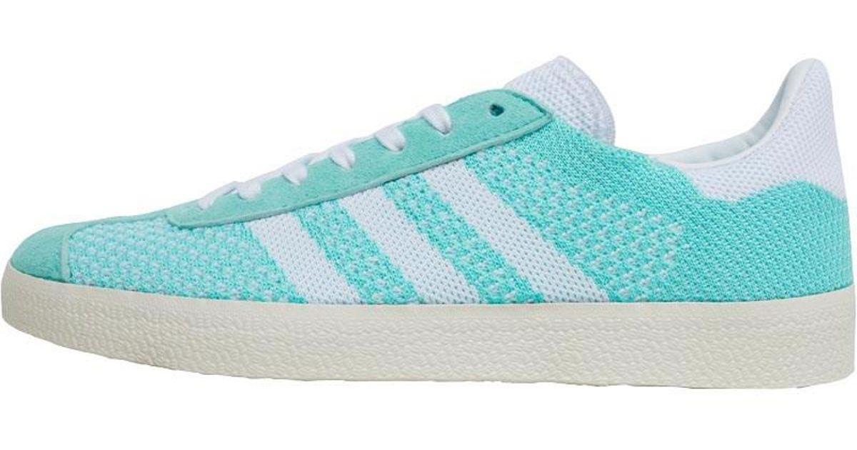 save off 4b6a5 31127 adidas Originals Gazelle Primeknit Trainers Easy Greenfootwear Whitechalk  White in Green - Lyst