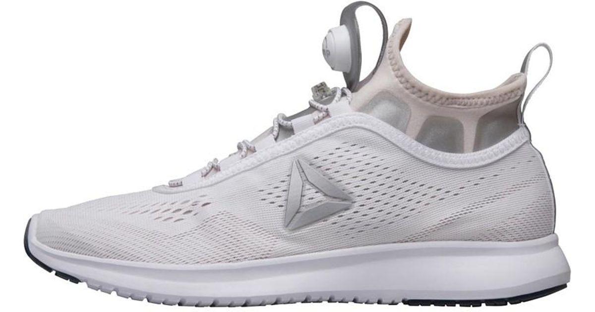 e7ee20611 Reebok Pump Plus Tech Neutral Running Shoes White lilac Ash silver Metallic  in White - Lyst