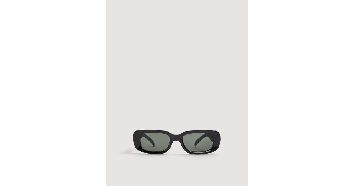 2af41b34d2 Lyst - Mango Acetate Frame Sunglasses in Black