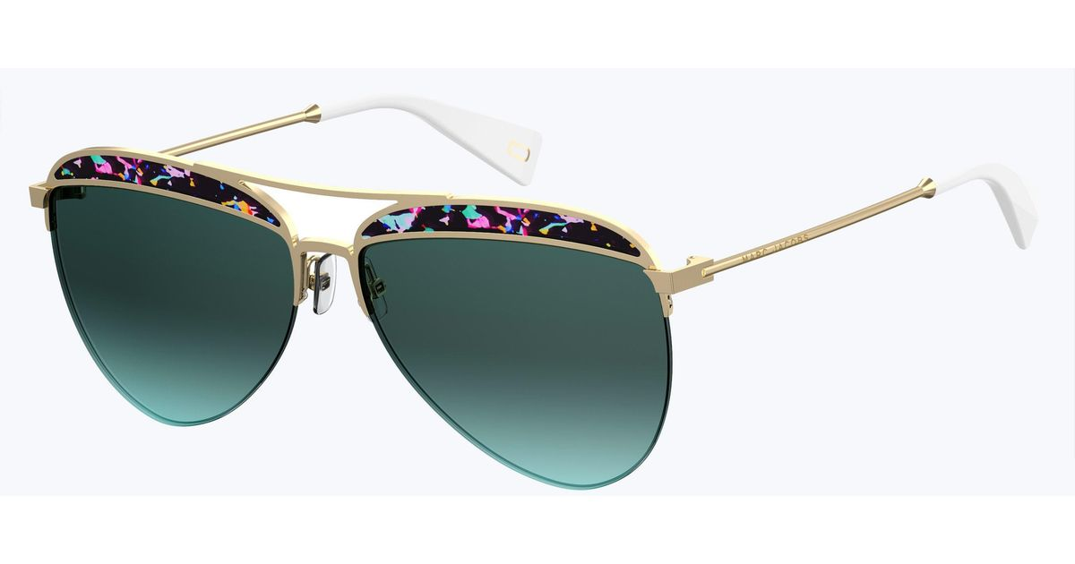 aed2aadb1d5 Marc Jacobs Retro Vintage Aviator in Blue - Lyst