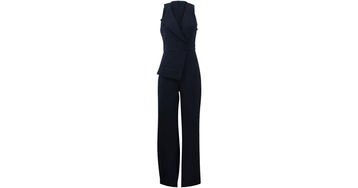 67ae48ffc57 Cushnie Et Ochs Tailored Jumpsuit in Blue - Lyst