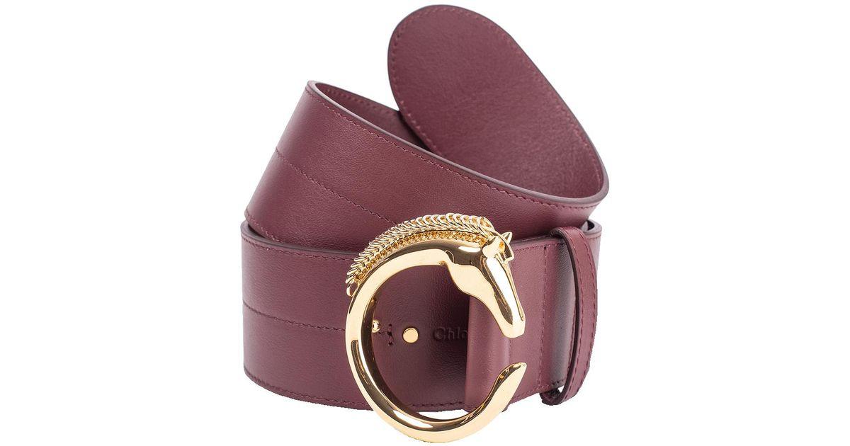 4cf0fce2db0 Lyst - Chloé C Horse Buckle Belt in Brown