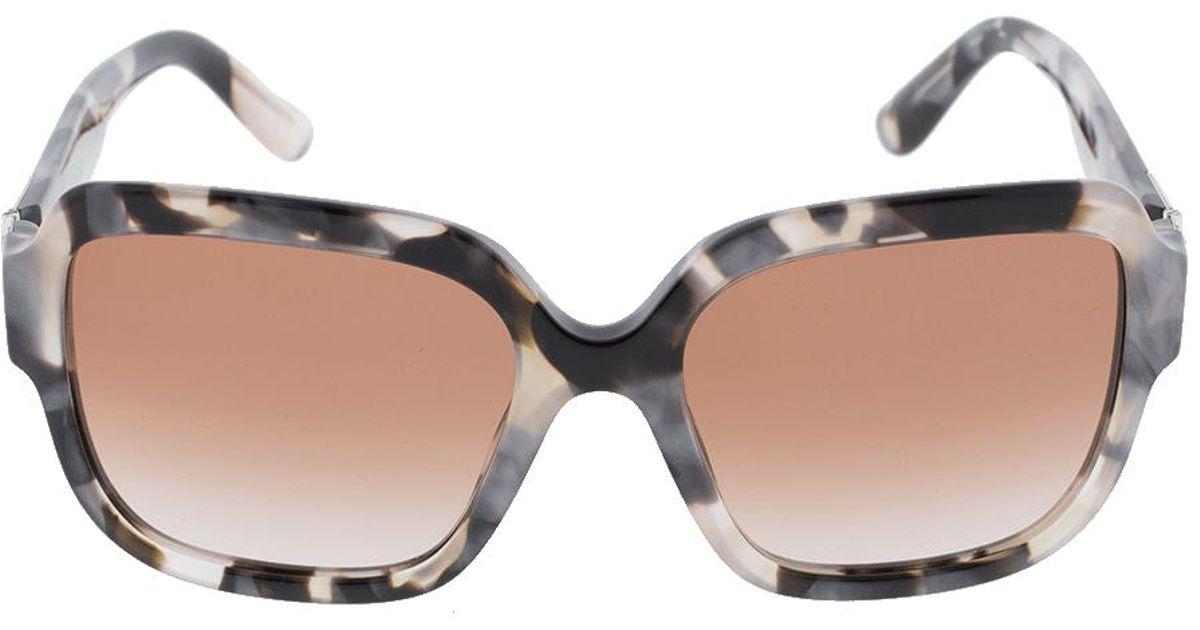 32c63752f1a3 Lyst - Dolce   Gabbana Large Havana Square Frame Sunglasses