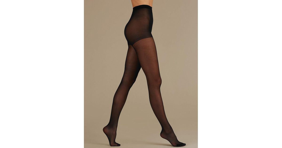 a6f58cc402a49 Lyst - Marks & Spencer 5 Pair Pack 15 Denier Sheer Shine Tights in Black