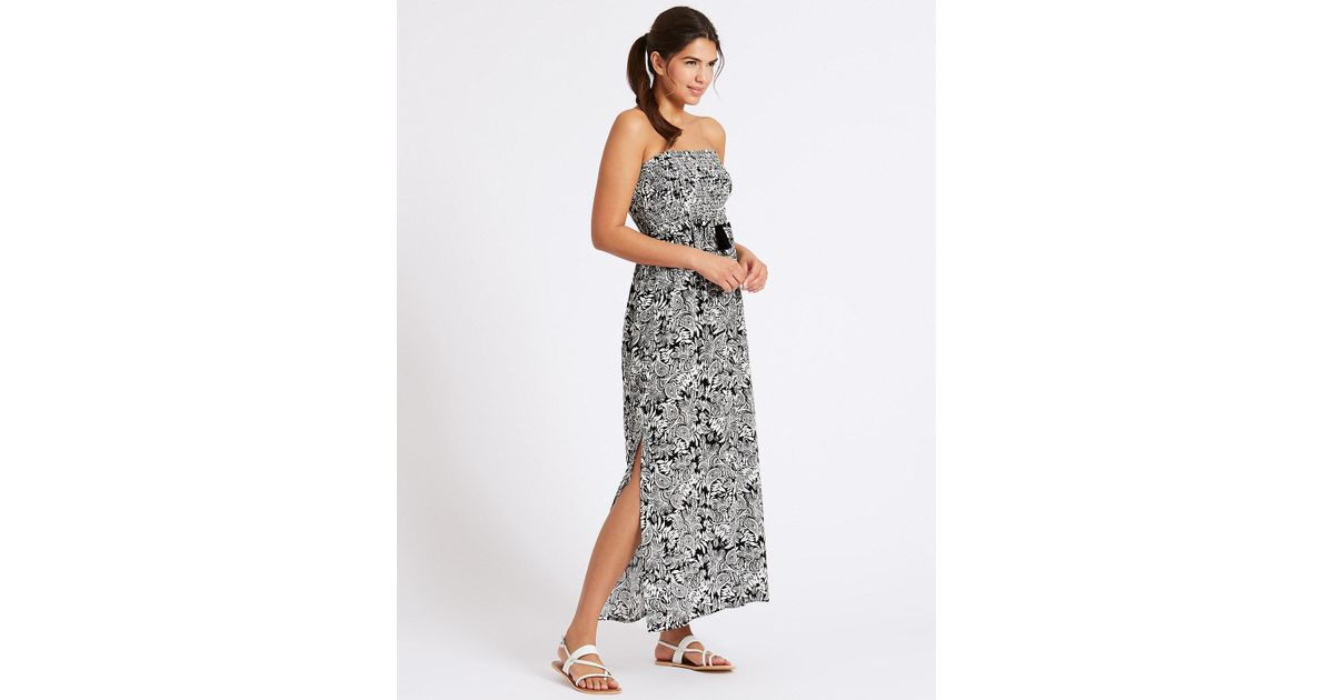 e2fccad775 Marks & Spencer Paisley Print Shirred Maxi Dress - Lyst