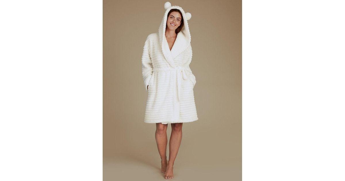 Lyst - Marks & Spencer Fleece Novelty Hooded Dressing Gown