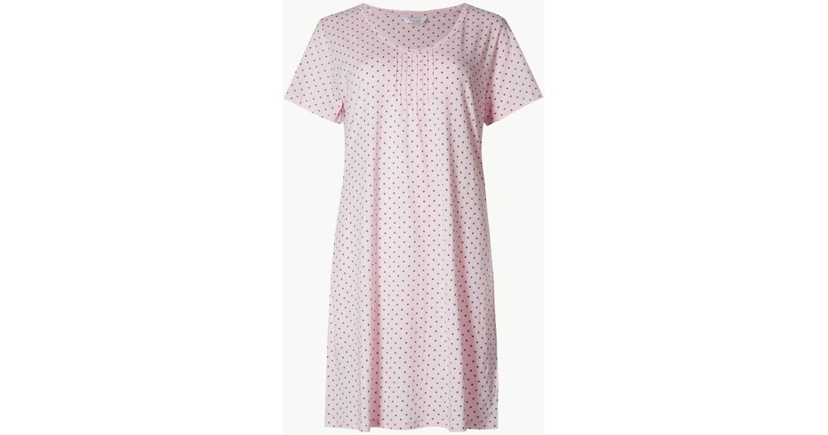 Marks   Spencer Modal Blend Nightdress With Cool Comforttm Technology in  Pink - Lyst 299fc08b4