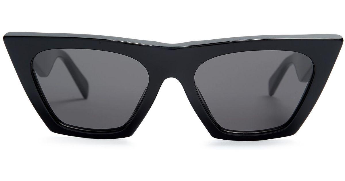 6b92ee3039 Céline Cat-eye Acetate Sunglasses in Black - Lyst