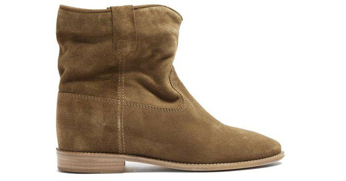 37913185d61 Isabel Marant Crisi Suede Ankle Boots in Brown - Lyst