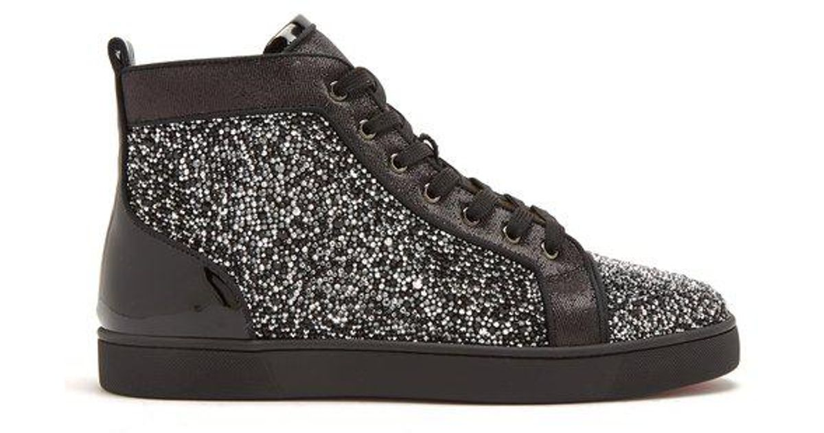 fc51d0a103a6 Lyst - Christian Louboutin Louis Strass Embellished High-top Trainers in  Black for Men