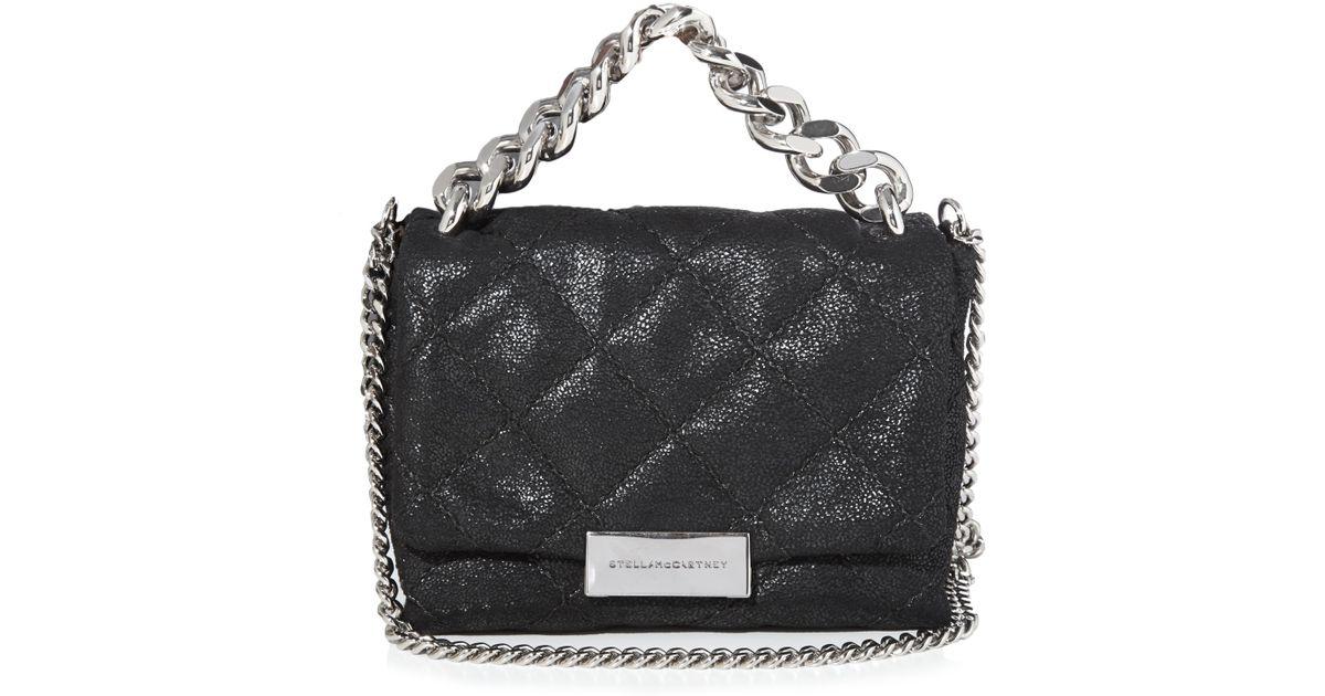 97ca957b6d51 Lyst - Stella McCartney Beckett Quilted Mini Bag in Black