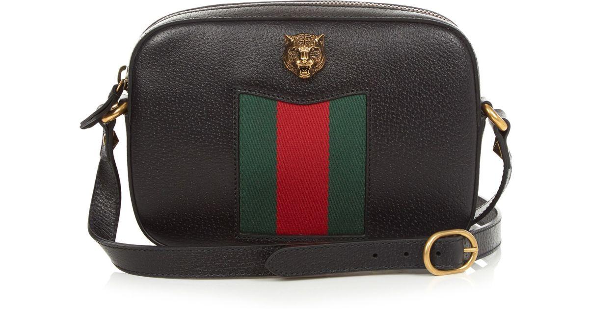 1ec26504dba Lyst - Gucci Animalier Grained Leather Cross-Body Bag in Black