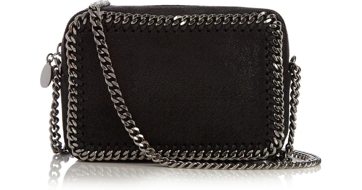 Lyst - Stella McCartney Falabella Camera Faux-suede Cross-body Bag in Black a3ddfac59d97a