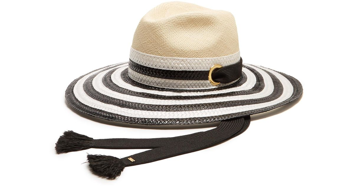 22d6ce3b66c Lyst - Sonia Rykiel Striped Straw Hat