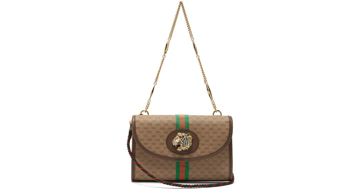 77f5c2dac08549 Gucci Small Rajah Gg Supreme Cross Body Bag in Natural - Lyst