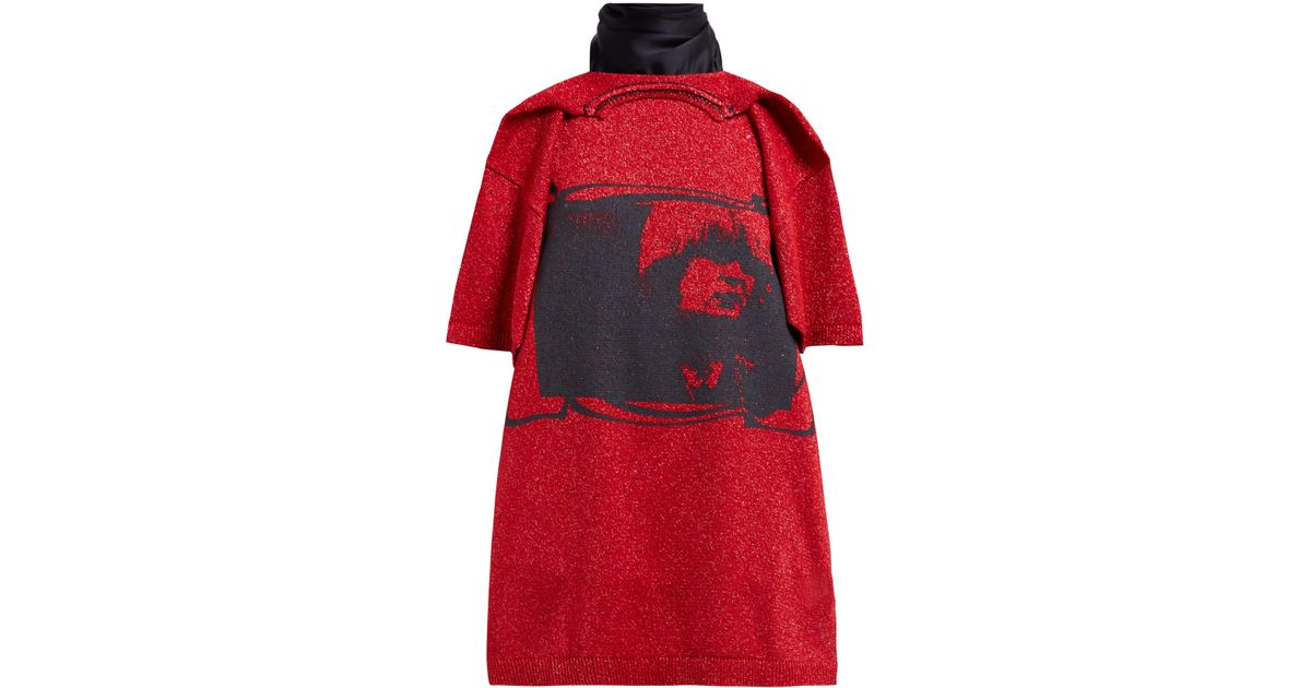 7ccd6078c8aee5 Raf Simons Toyah Print T Shirt Style Scarf in Red - Lyst