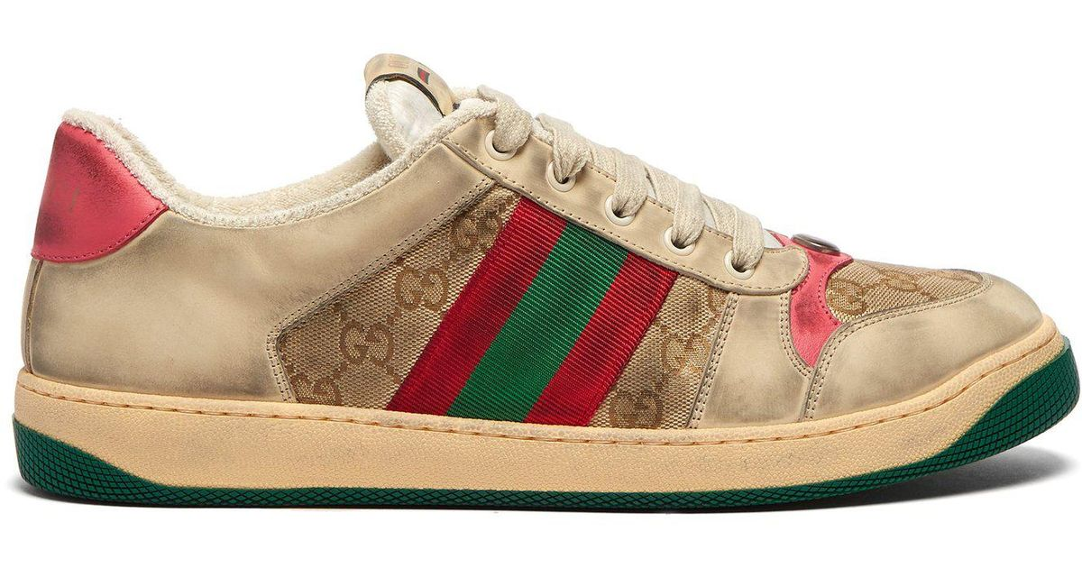 2e89a8ef289 Lyst - Gucci Screener Gg Supreme Leather Trainers for Men