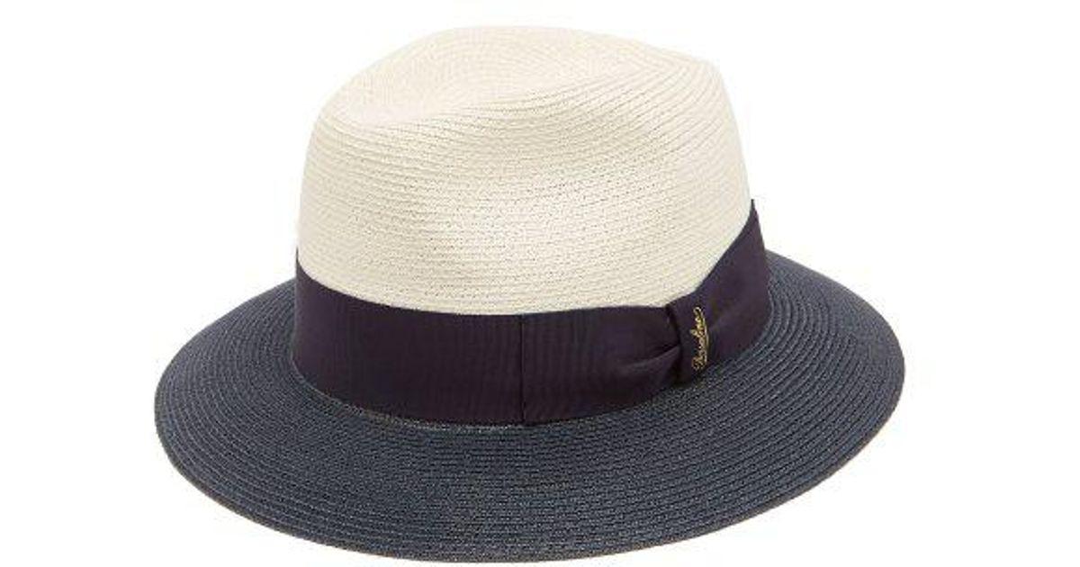Bi-colour bow-embellished panama hat Borsalino Fake Sale Online SEgqThFlEt