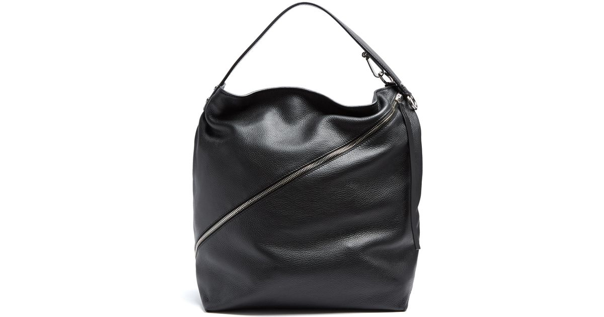 Lyst - Proenza Schouler Hobo Large Grained-leather Bag in Black 261d2d6407f54