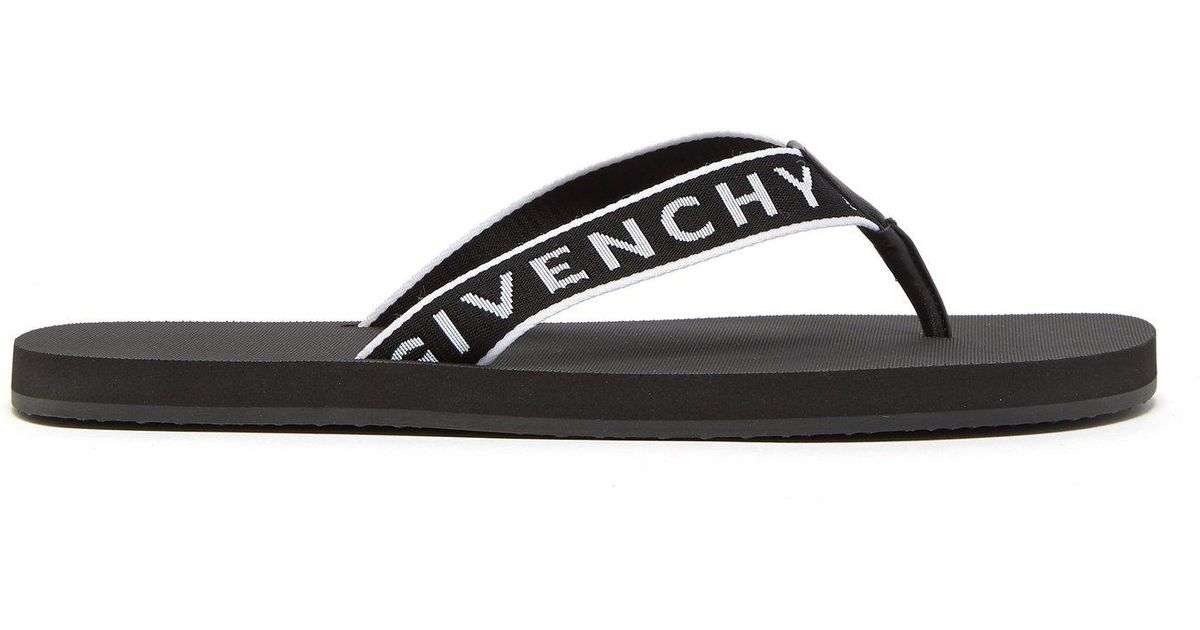 df957e5565ae Lyst - Givenchy Favelas Logo Flip Flops in Black for Men