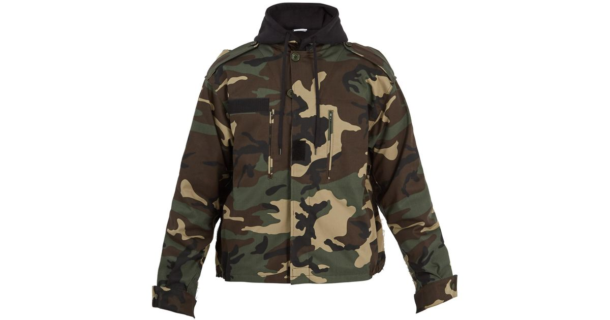 bb554684a17e Lyst - Vetements Commando Hooded Camouflage-print Jacket for Men
