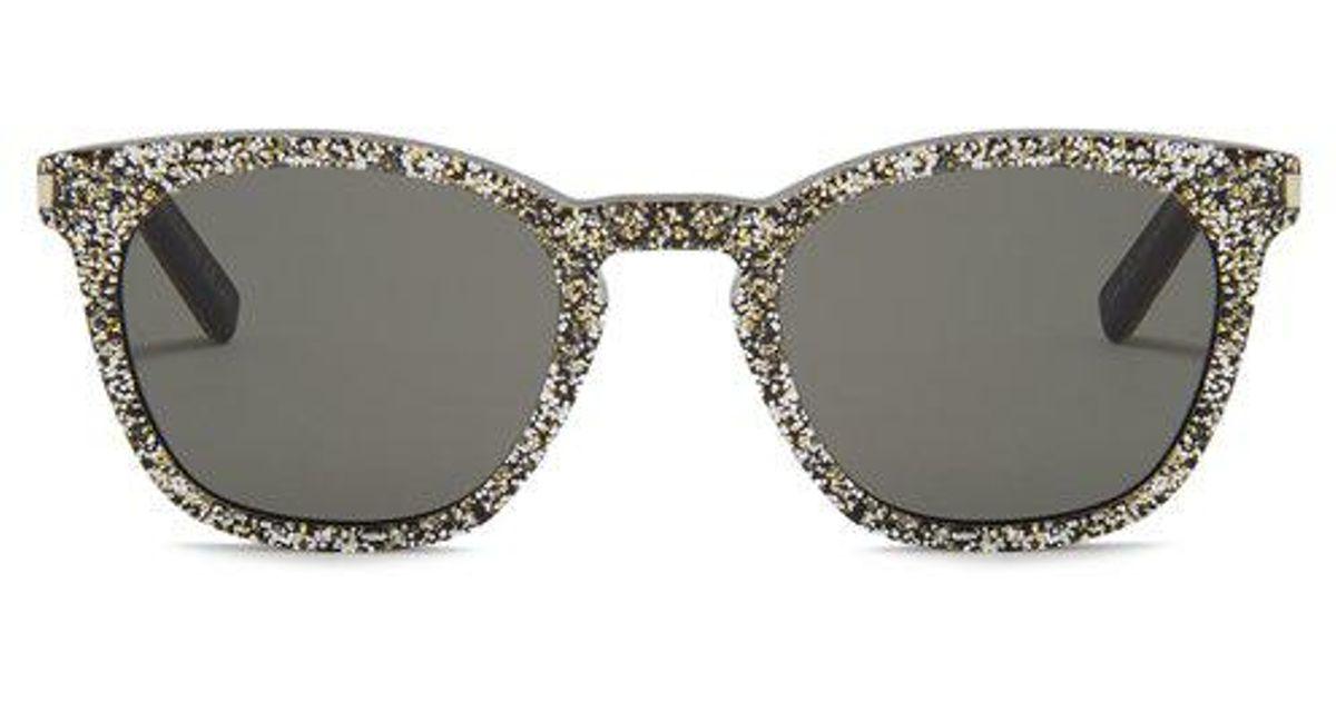 c5ef7081f63 Saint Laurent D-frame Glitter-acetate Sunglasses for Men - Lyst