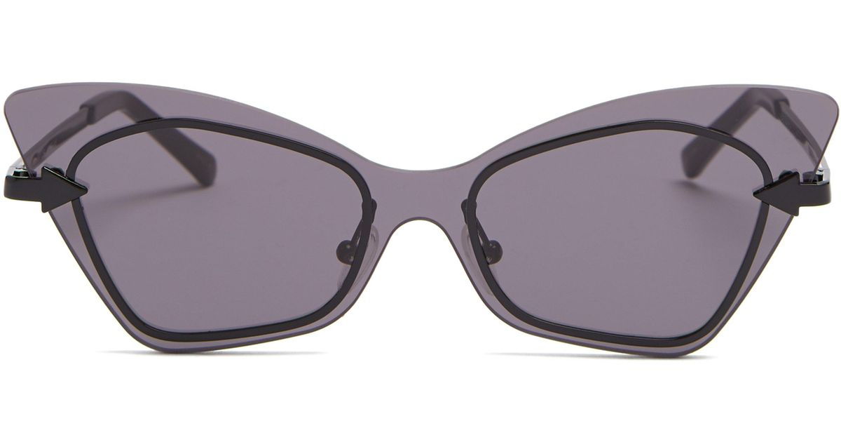 3b74c88a38d1 Karen Walker Mrs Brill Cat-eye Acetate Sunglasses in Black - Lyst