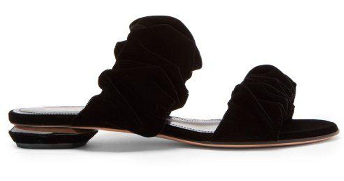 Courtney scrunchie-effect velvet flats Nicholas Kirkwood DHlObkaP0