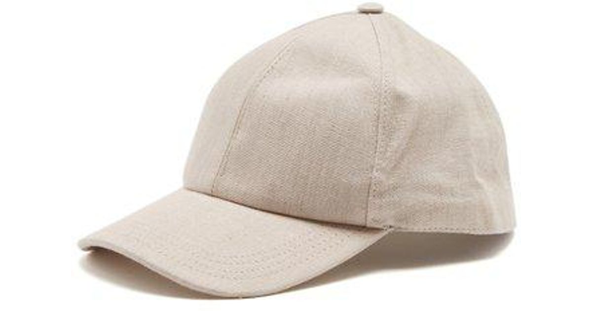 Brunello Cucinelli Six-panel Linen Baseball Cap in Natural for Men - Lyst f7aec0926d1f