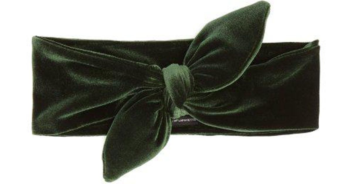 Knotted-bow velvet headband House of Lafayette TiMSgPEf