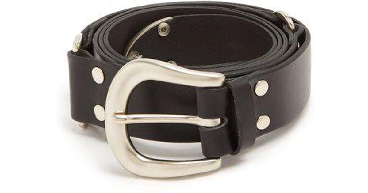 Buckle-fastening wraparound leather belt Charles Jeffrey Loverboy O0RNCeE0v