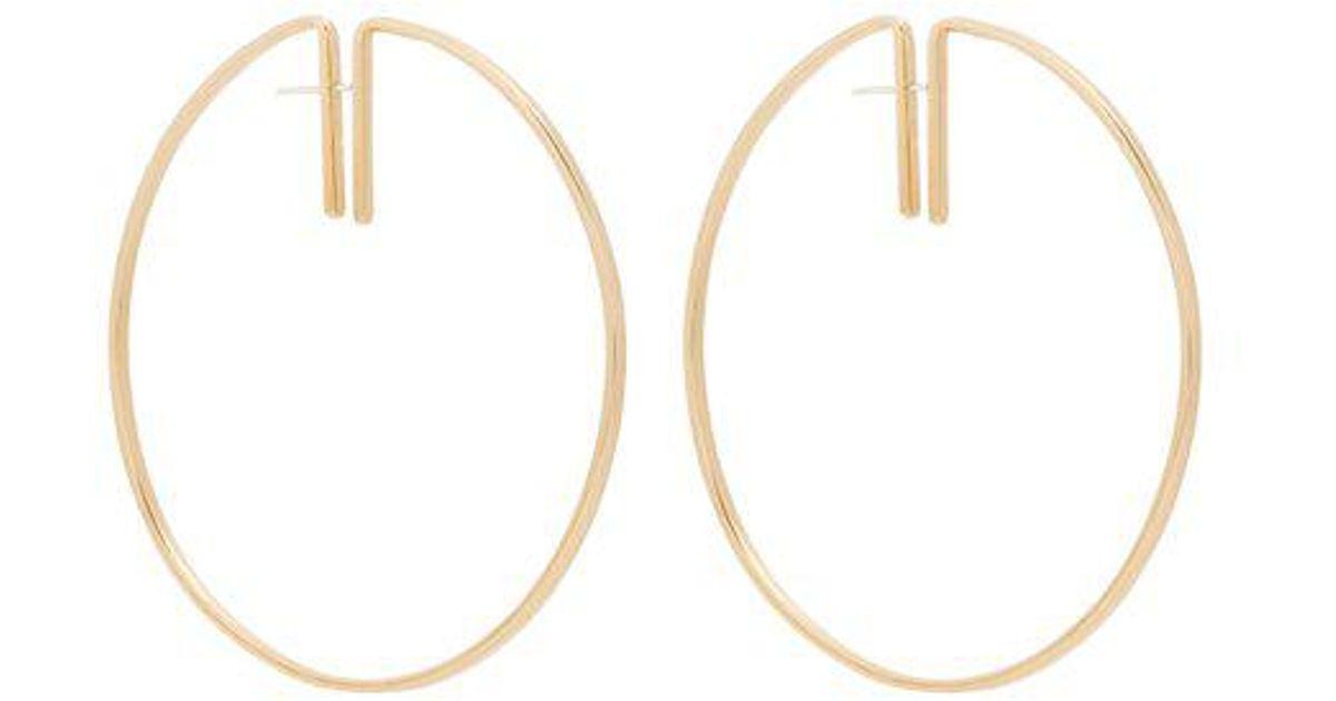 Rako hoop brass earrings Fay Andrada zIB37
