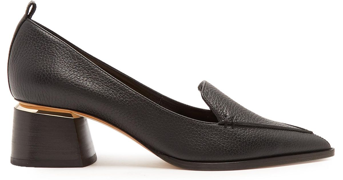 9b4f6f693b8 Lyst - Nicholas Kirkwood Beya Grained-leather Block-heel Pumps in Black