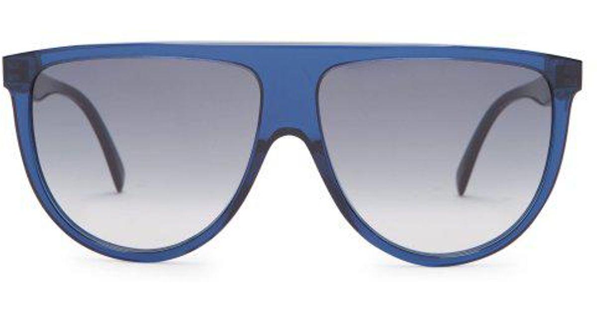 75664f8035a7 Céline Shadow D-frame Aviator Sunglasses in Blue - Lyst