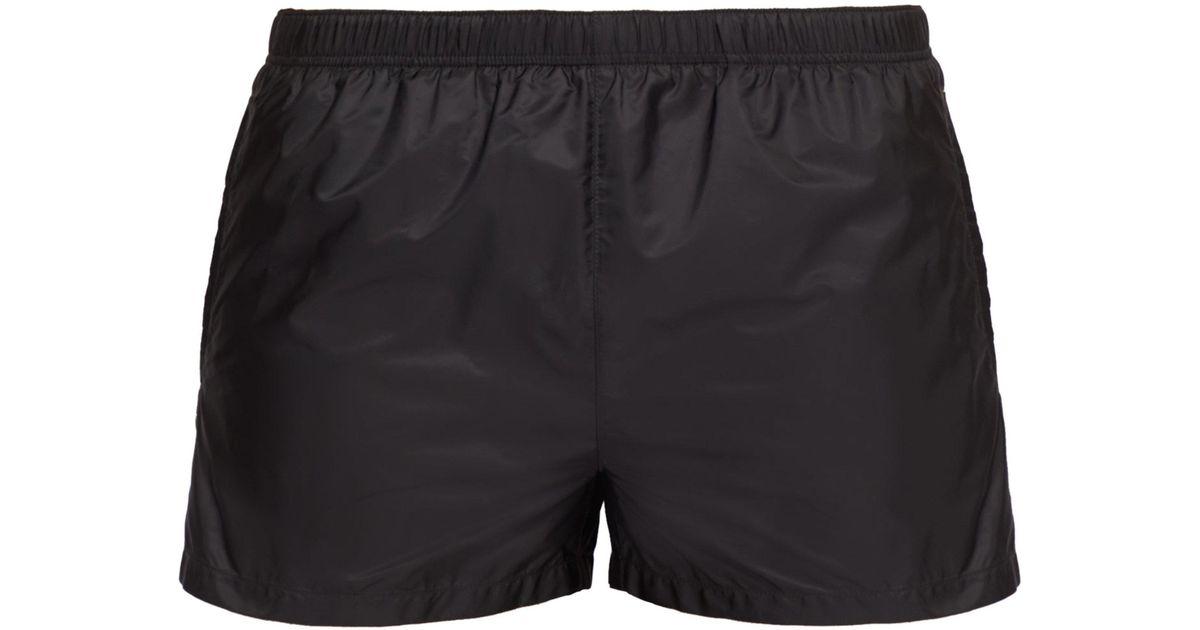 65e16e20d06c3 Prada Elasticated Waist Nylon Swim Shorts in Gray for Men - Lyst