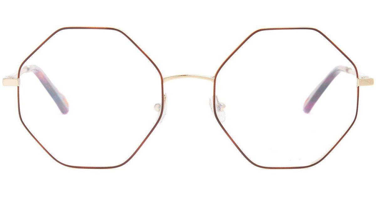 5786e1d4c74 Lyst - Chloé Poppy Hexagon Frame Glasses
