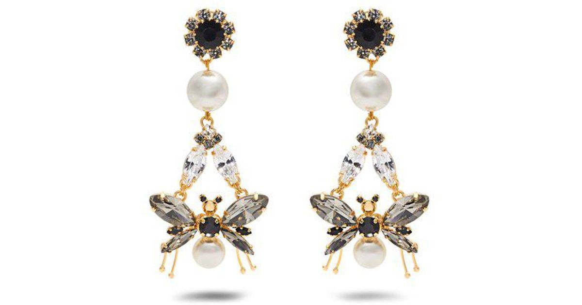 Erdem Drop Bee clip-on earrings oHWcXdwhRo